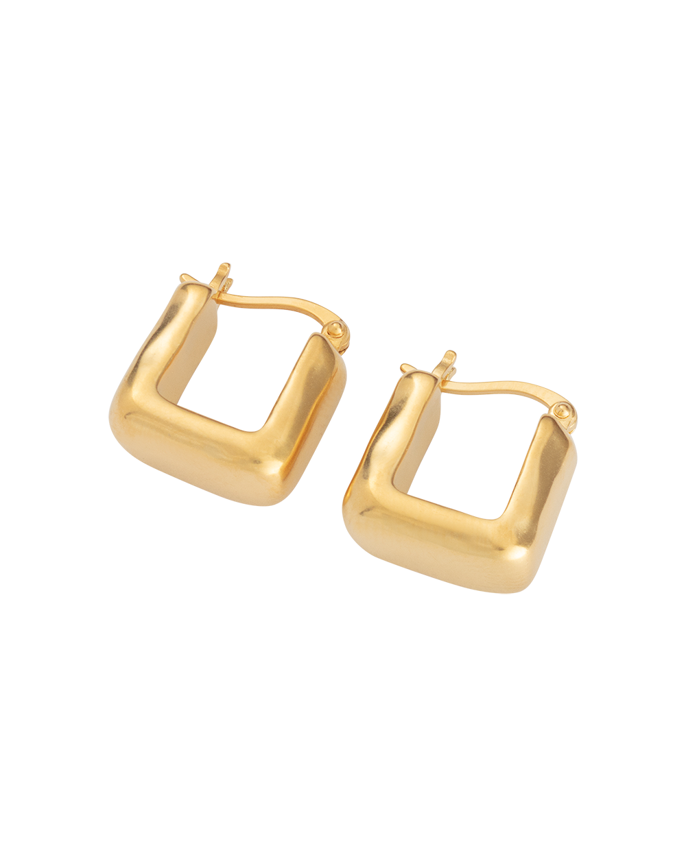 DAYBREAK HOOPS (18K-GOLD-PLATED) - SIDE