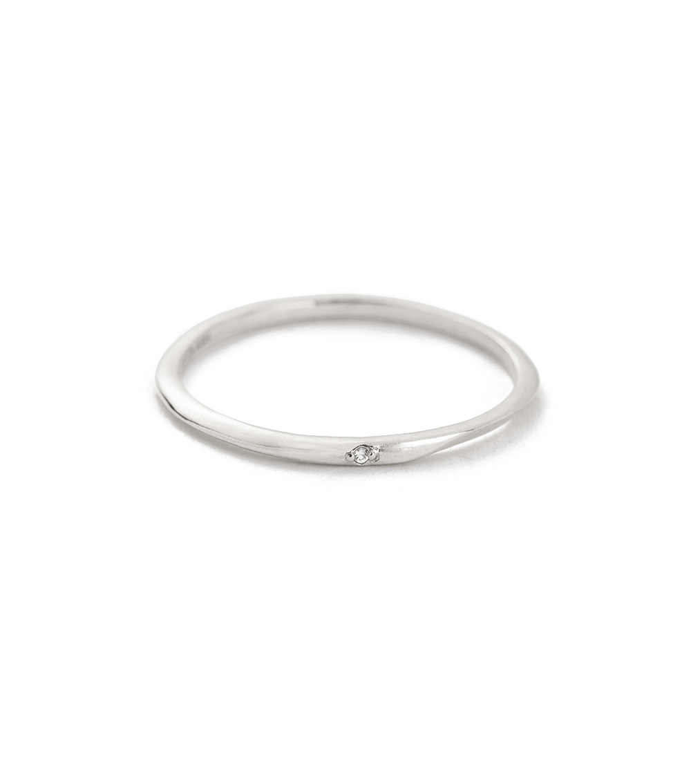 EBB AND FLOW DIAMOND RING (STERLING SILVER)