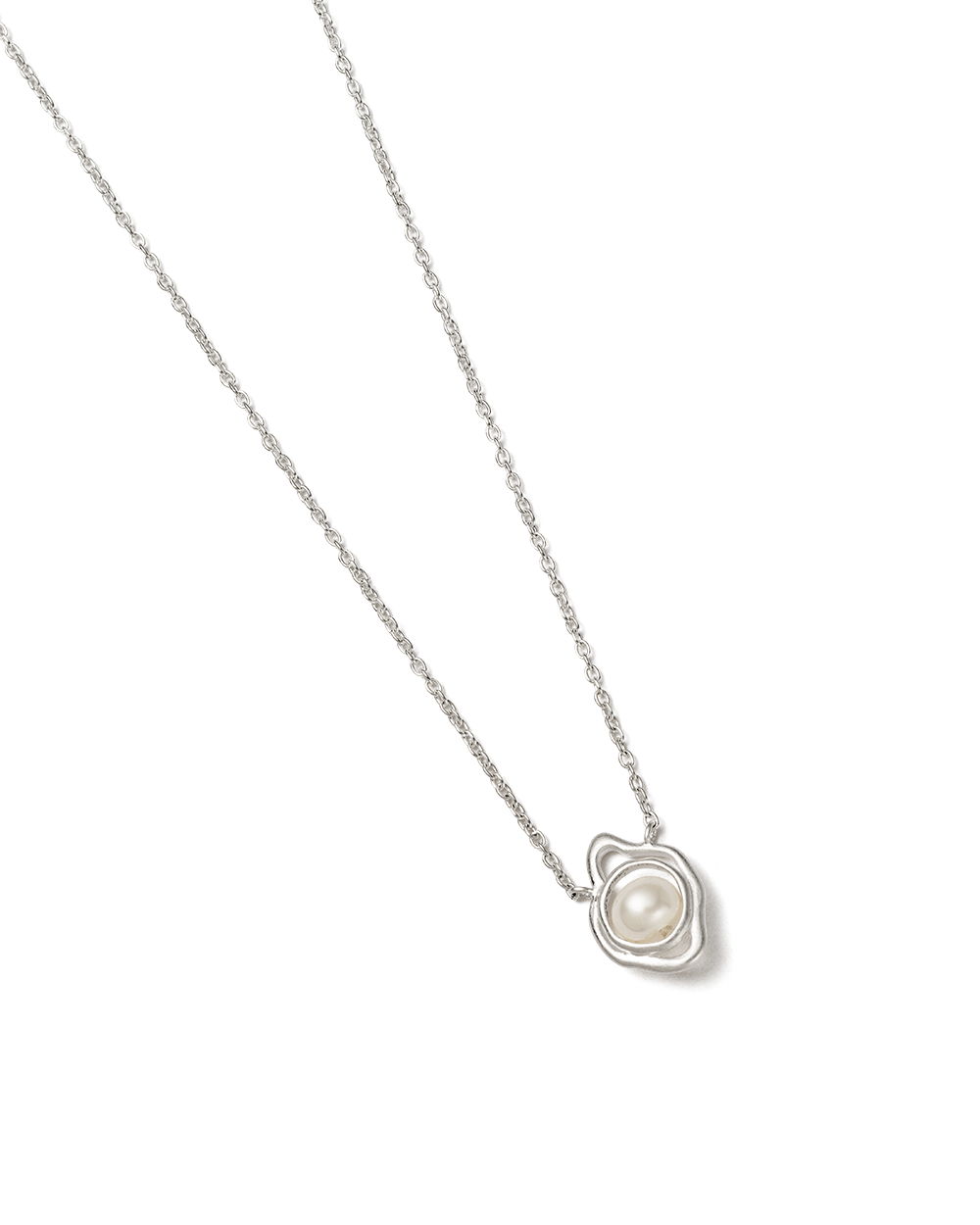 EBB AND FLOW NECKLACE (STERLING SILVER) - SIDE IMAGE