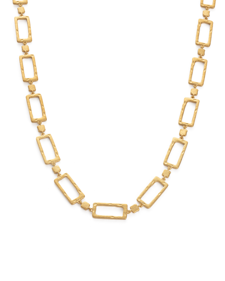 ELEMENTS CHAIN NECKLACE (18K-GOLD-PLATED) - FRONT