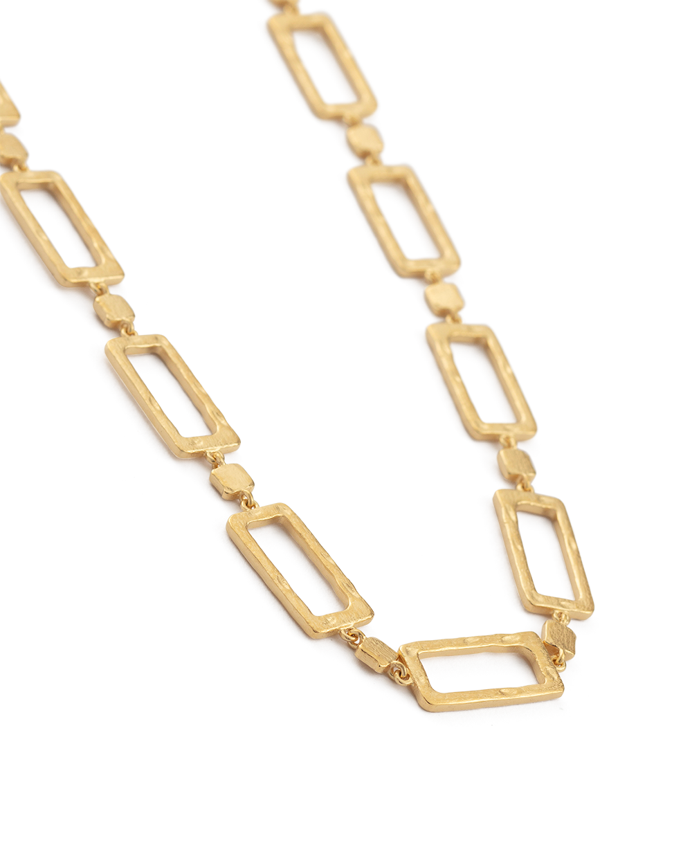 ELEMENTS CHAIN NECKLACE (18K-GOLD-PLATED) - SIDE