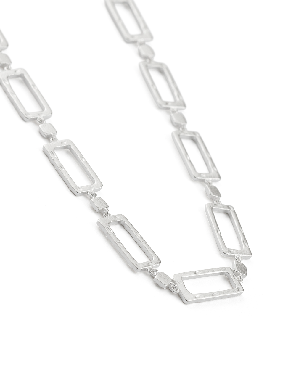 ELEMENTS CHAIN NECKLACE (STERLING SIlVER) - SIDE