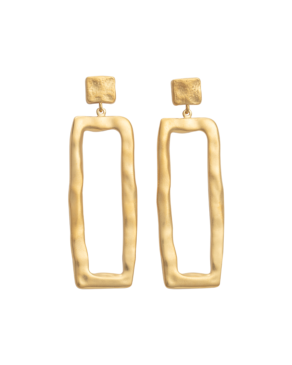 ELEMENTS EARRINGS (18K-GOLD-PLATED) - FRONT