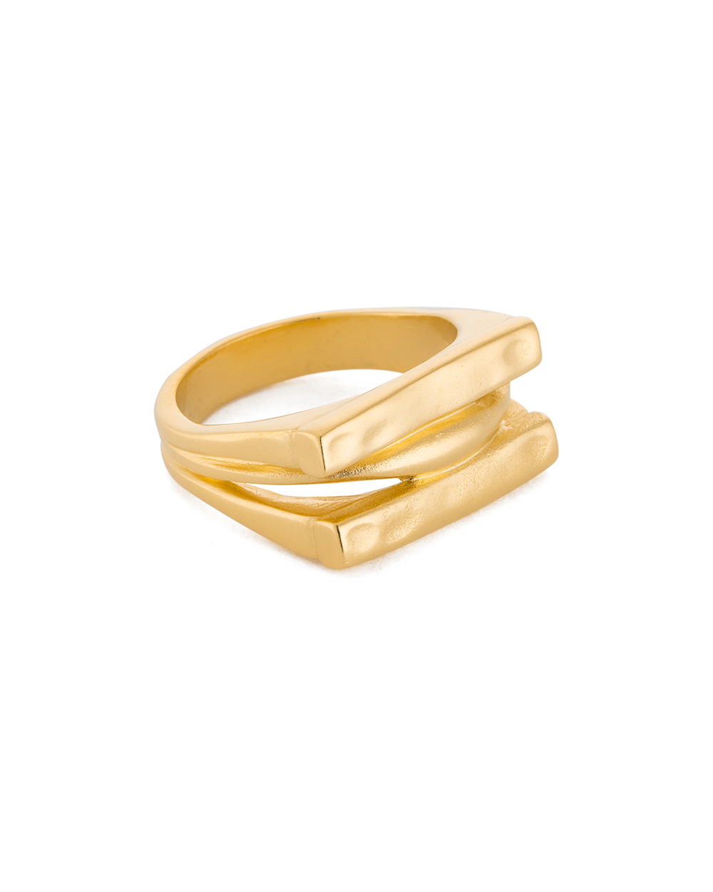 ELEMENTS RING (18K-GOLD-PLATED) - FRONT