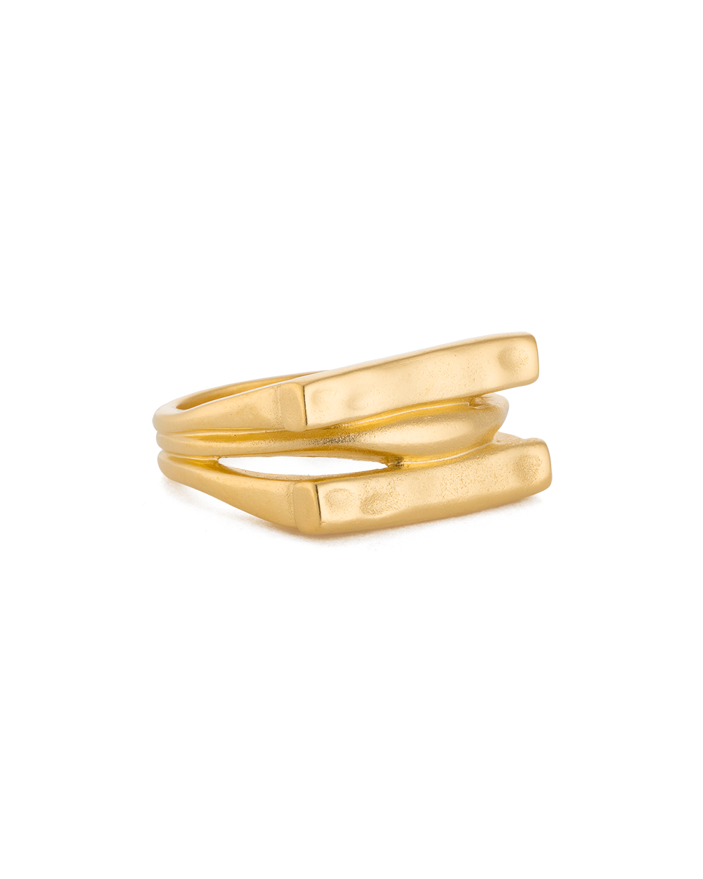 ELEMENTS RING (18K-GOLD-PLATED) - SIDE