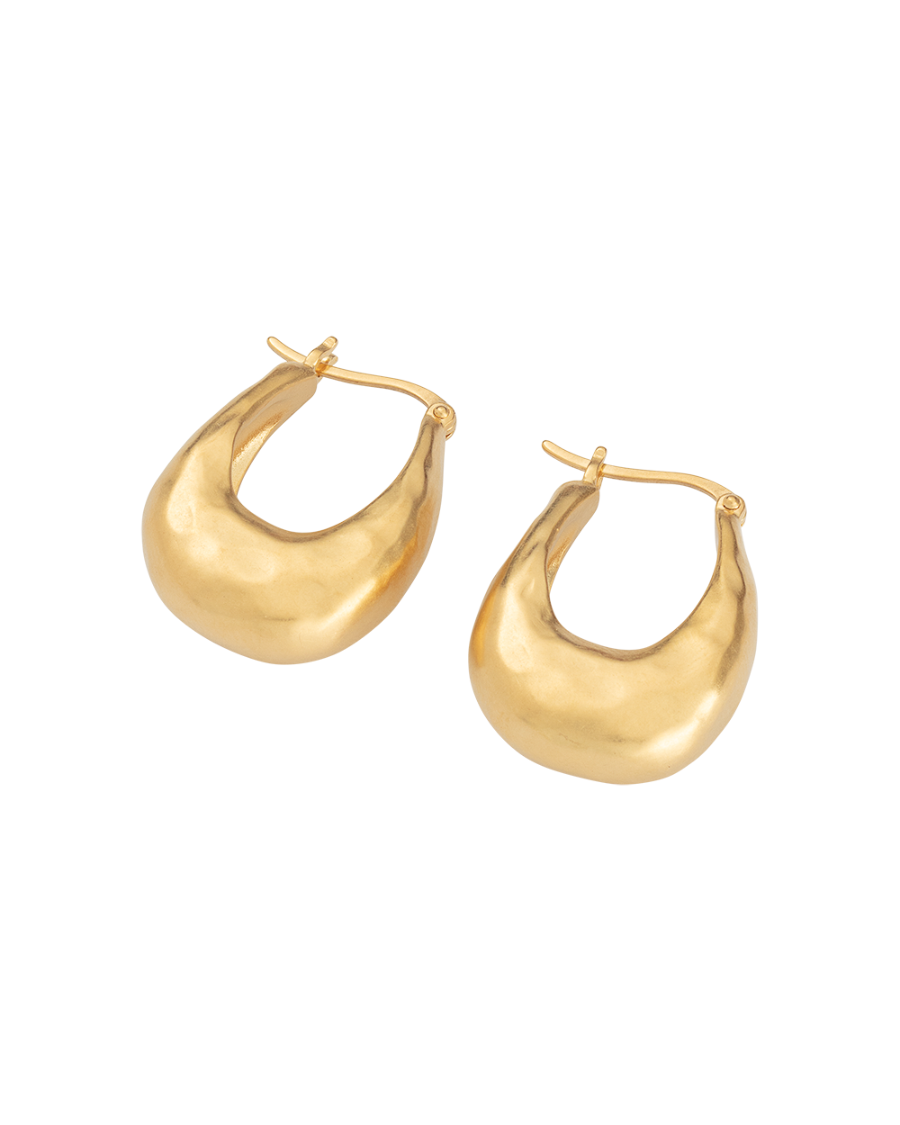 ESSENCE HOOPS MEDIUM (18K-GOLD-PLATED) - SIDE