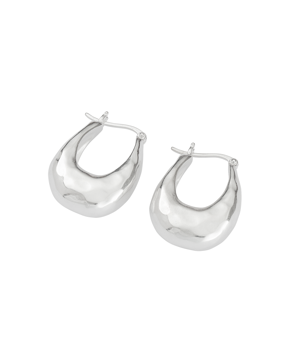 ESSENCE HOOPS MEDIUM (STERLING SIlVER) - SIDE