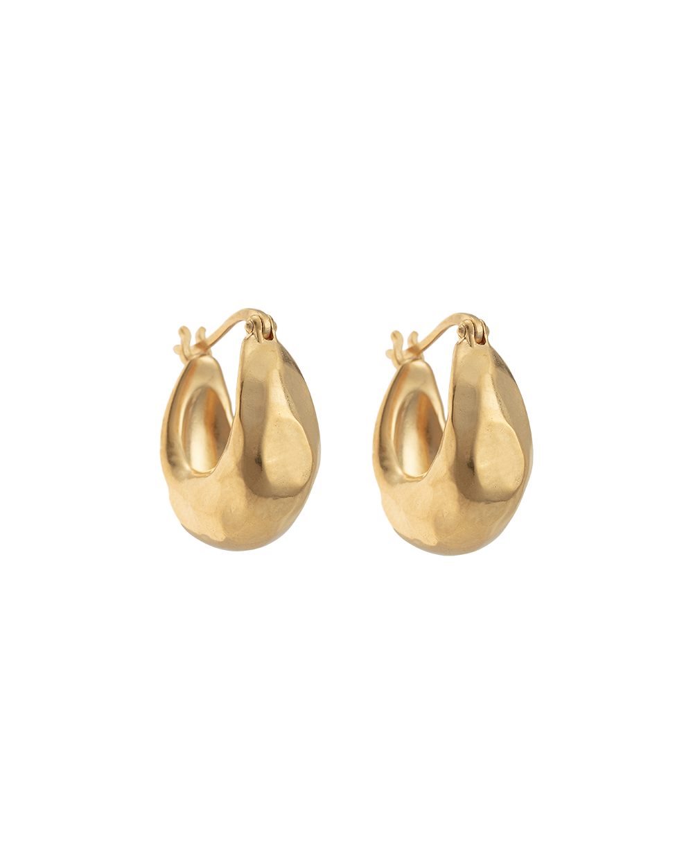ESSENCE HOOPS SMALL (18K-GOLD-PLATED) - FRONT