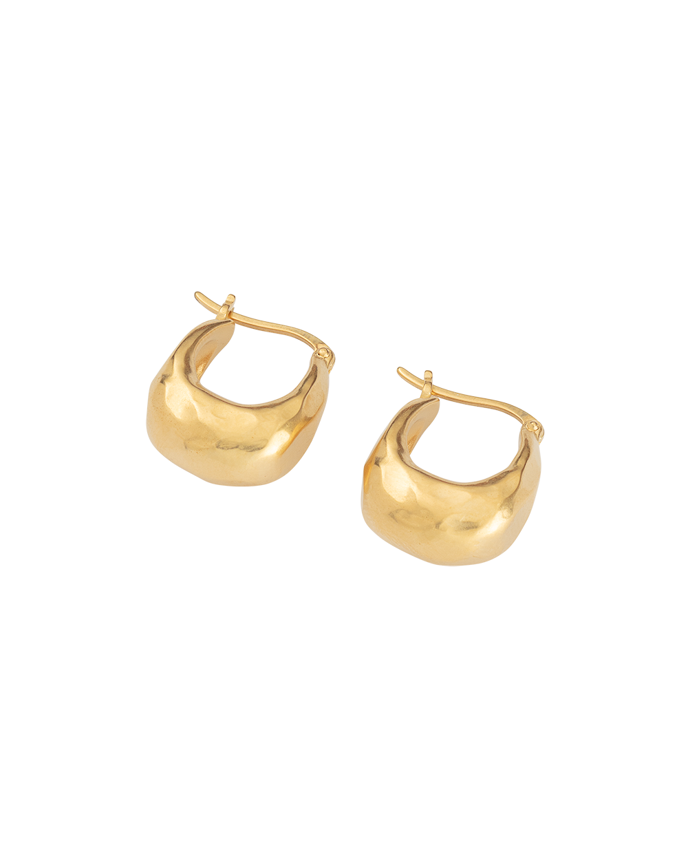 ESSENCE HOOPS SMALL (18K-GOLD-PLATED) - SIDE