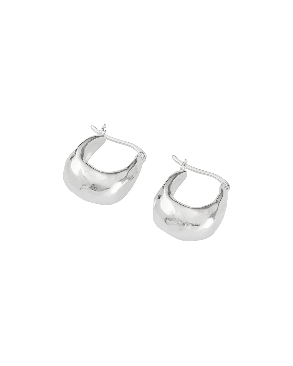 ESSENCE HOOPS SMALL (STERLING SIlVER) - SIDE