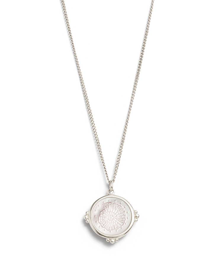 FOSSIL SHELL NECKLACE (STERLING SILVER)