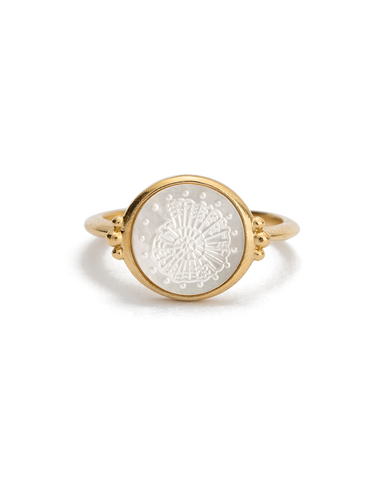 FOSSIL SHELL RING (18K-GOLD-VERMEIL) - 01