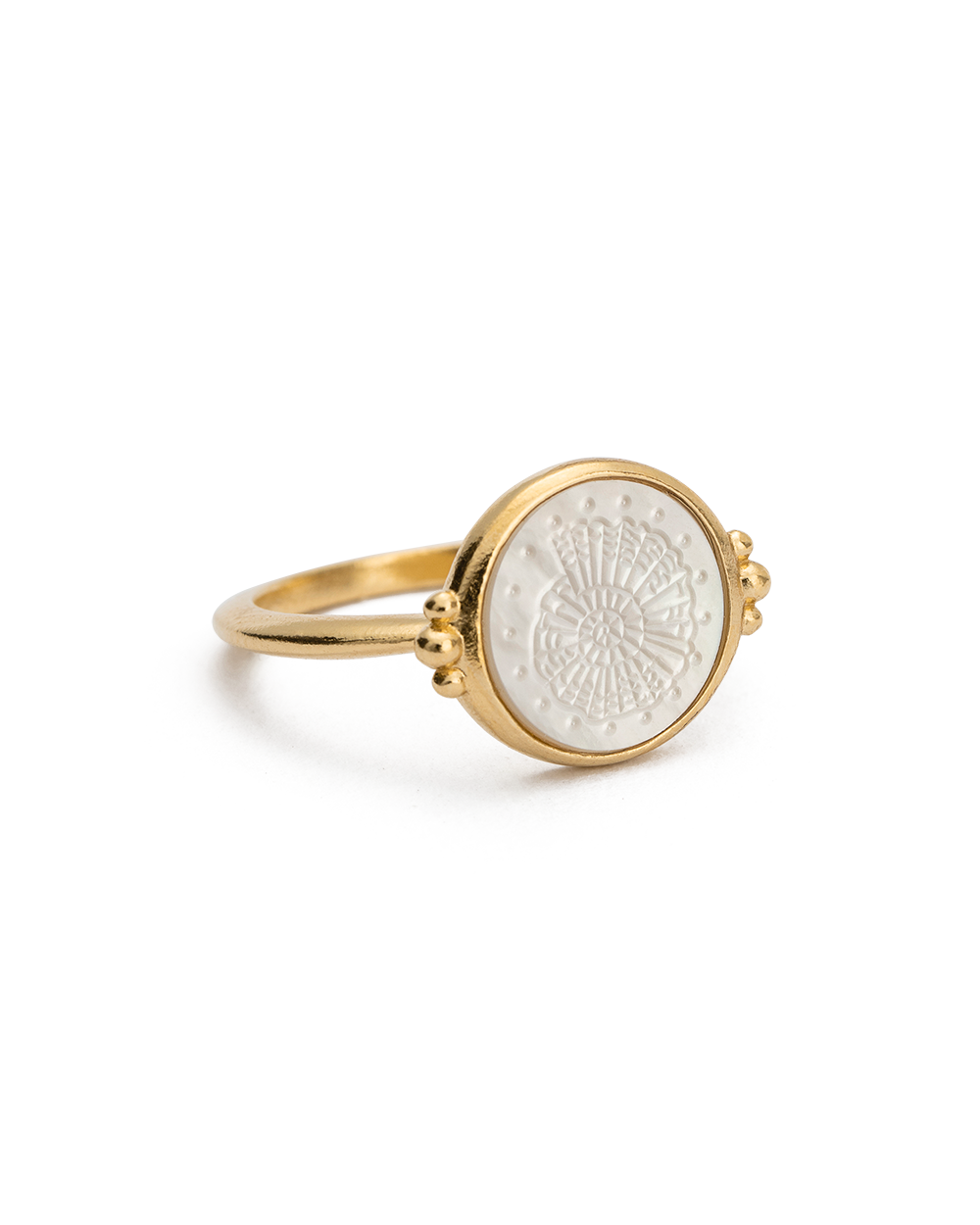 FOSSIL SHELL RING (18K-GOLD-VERMEIL) - 02
