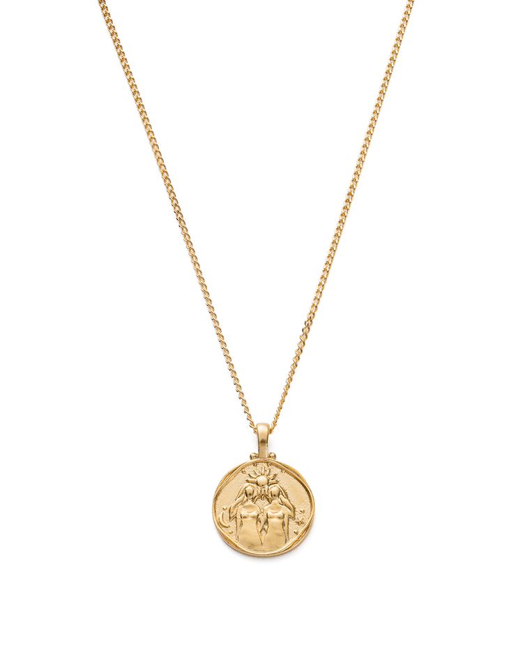 GEMINI ZODIAC NECKLACE (18K-GOLD-VERMEIL)