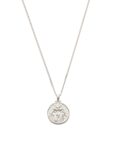 GEMINI ZODIAC NECKLACE (STERLING SILVER)