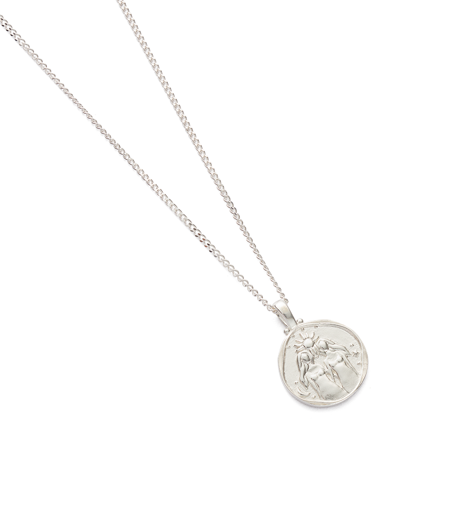 GEMINI ZODIAC NECKLACE (STERLING SILVER) - Image 2