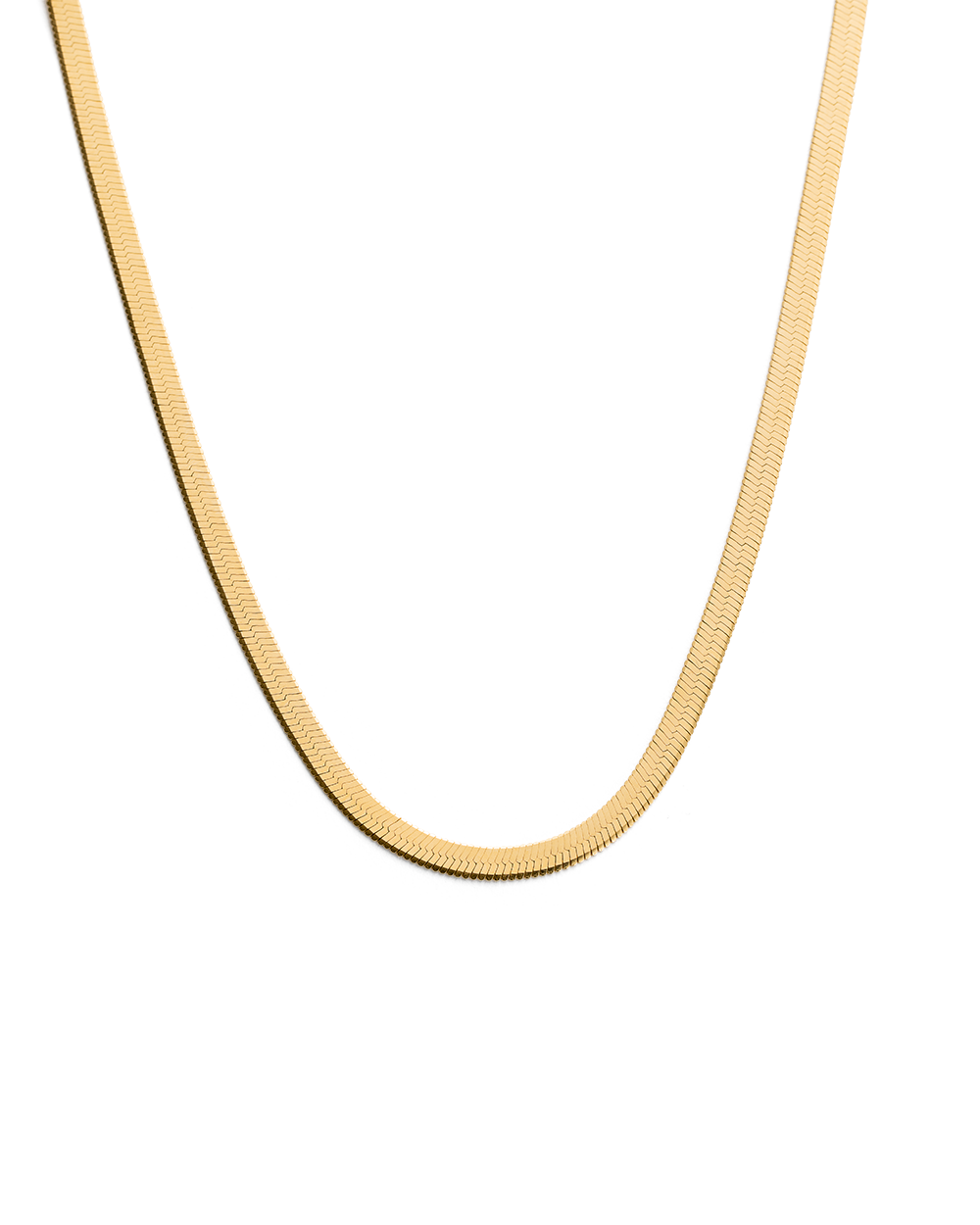 HERRINGBONE CHAIN (18K-GOLD-VERMEIL)