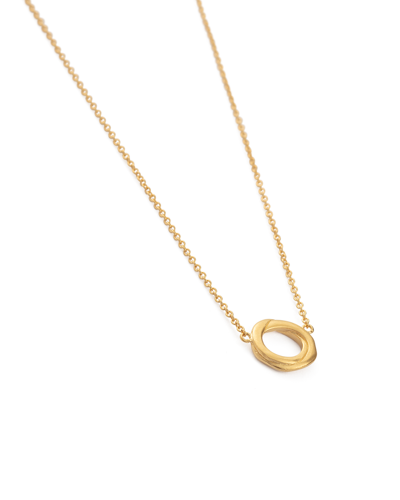 INFINITE NECKLACE (18K-GOLD-PLATED) - SIDE