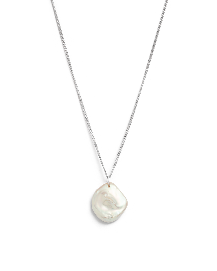 KESHI PEARL NECKLACE (STERLING SILVER)