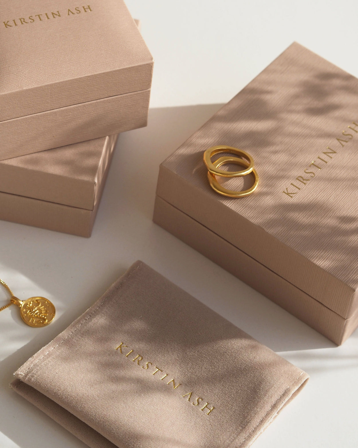 DAYBREAK STACKING RING (18K-GOLD-PLATED) - BOX