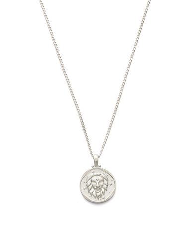 LEO ZODIAC NECKLACE (STERLING SILVER)