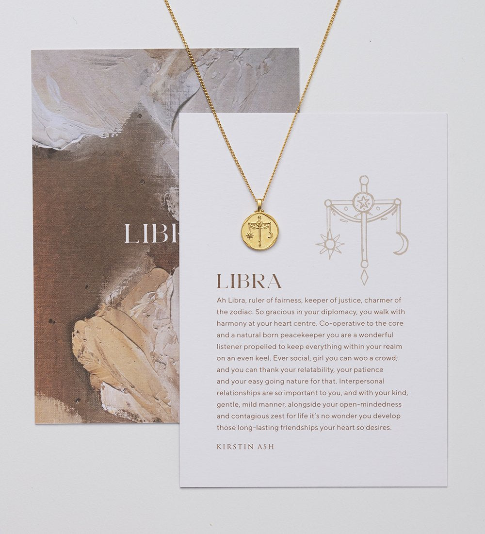 LIBRA ZODIAC NECKLACE (18K-GOLD-VERMEIL)