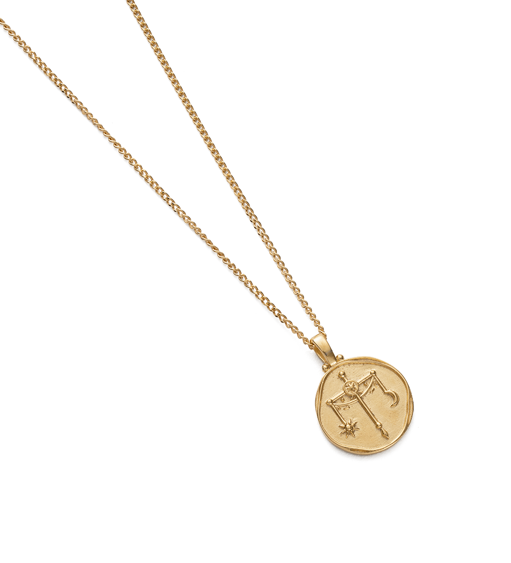 LIBRA ZODIAC NECKLACE (18K-GOLD-VERMEIL) - Image 2