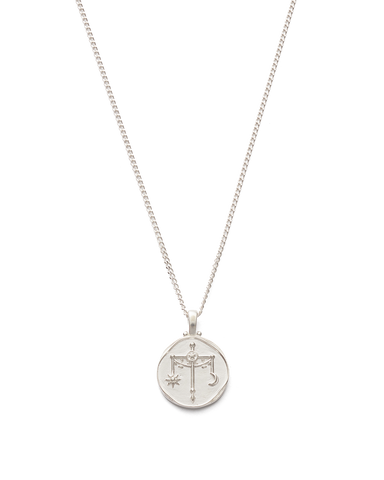 LIBRA ZODIAC NECKLACE (STERLING SILVER)