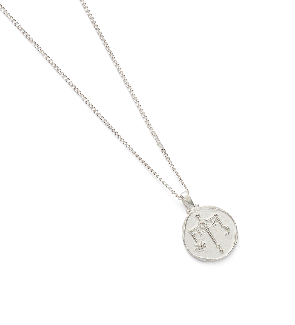 LIBRA ZODIAC NECKLACE (STERLING SILVER) - Image 2