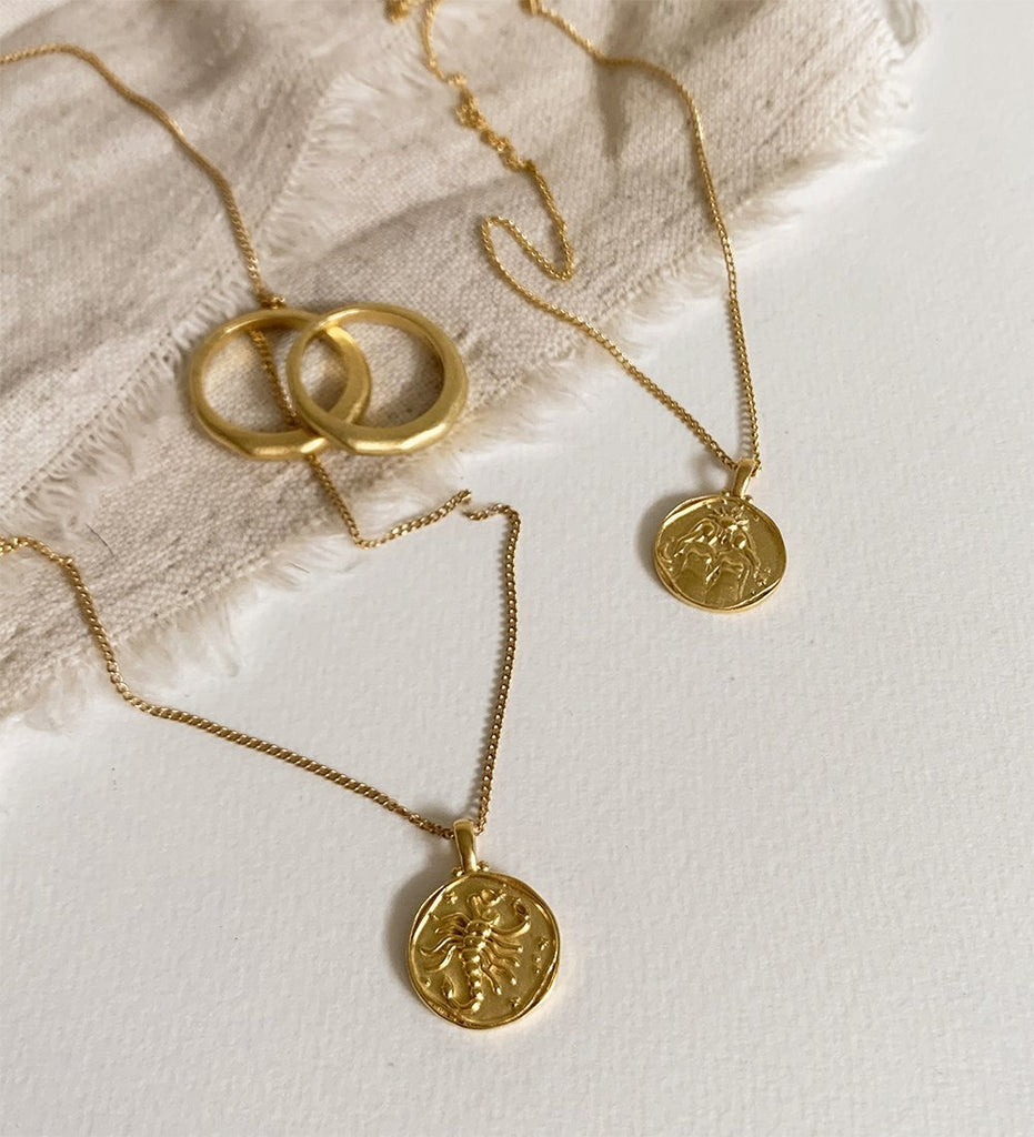 SCORPIO ZODIAC NECKLACE (18K-GOLD-VERMEIL)
