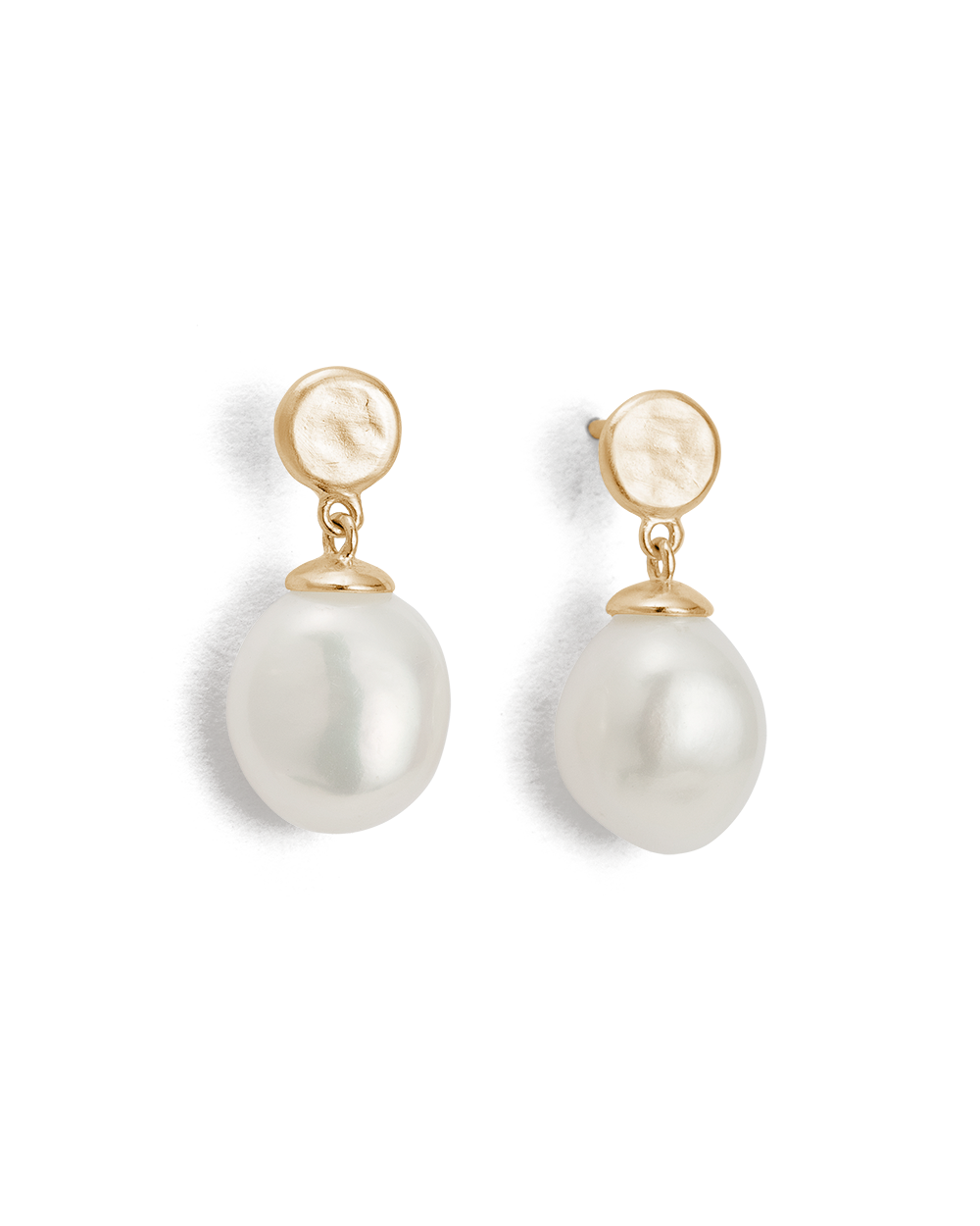 MOON TIDE PEARL EARRINGS (9K GOLD)