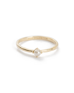 MOON TIDE PEARL RING (9K GOLD)