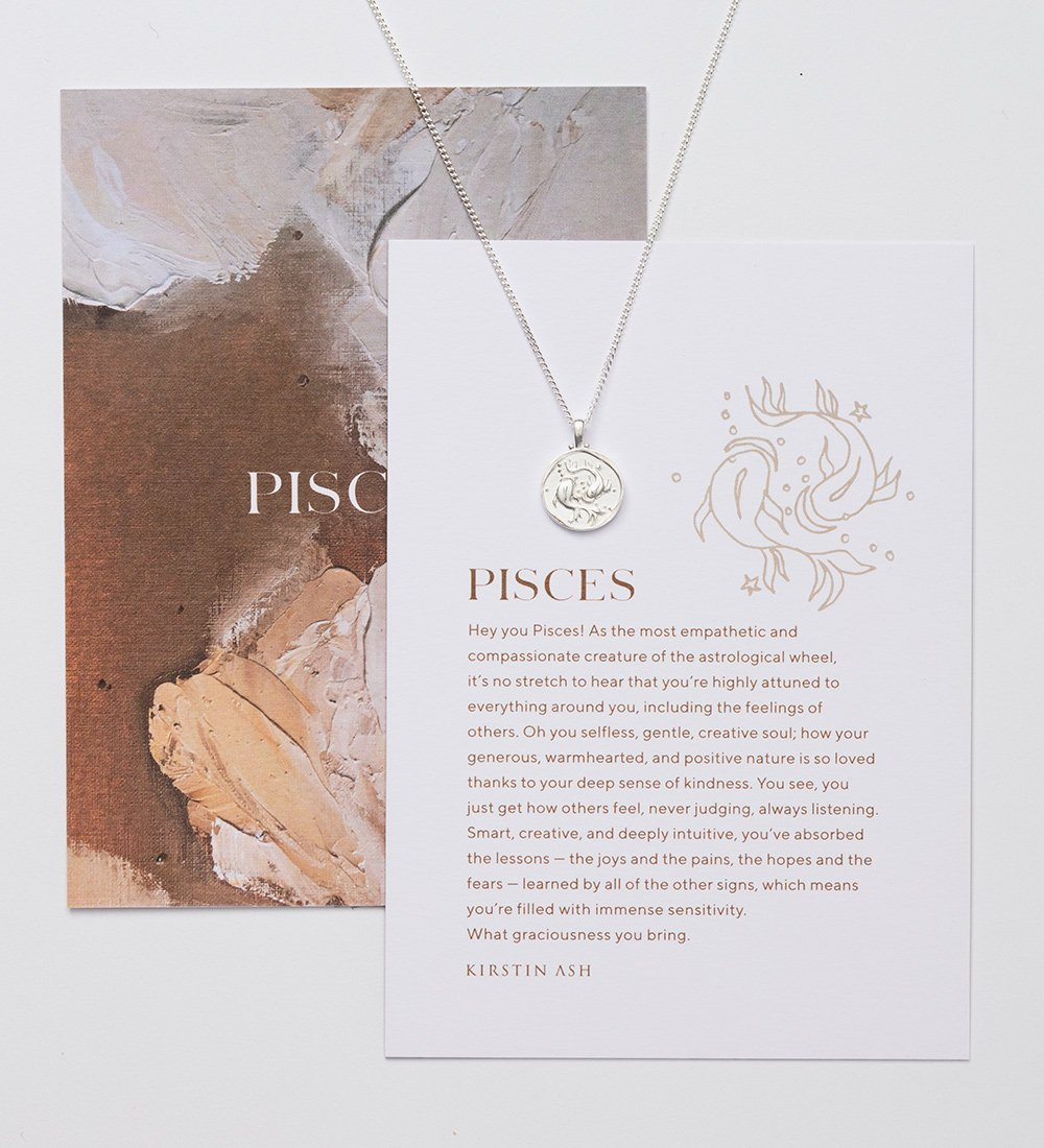 PISCES ZODIAC NECKLACE (STERLING SILVER)