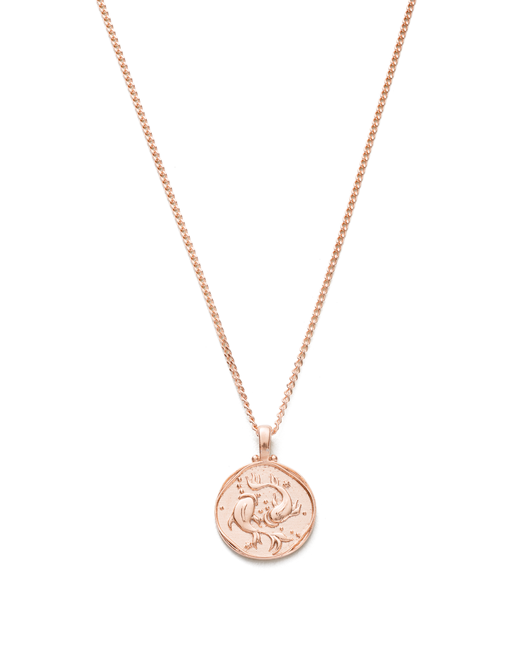 PISCES ZODIAC NECKLACE (18K-ROSE GOLD-VERMEIL)