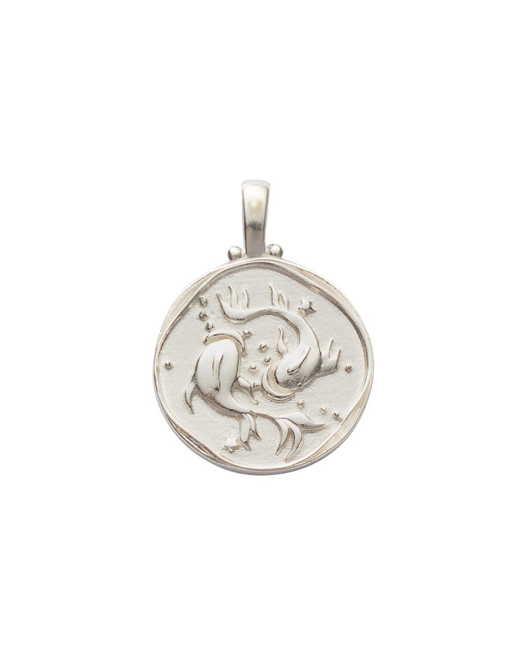 PISCES ZODIAC (STERLING SILVER)