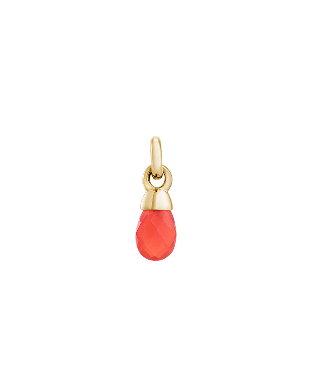 RED AGATE GEMSTONE (18K-GOLD-VERMEIL)