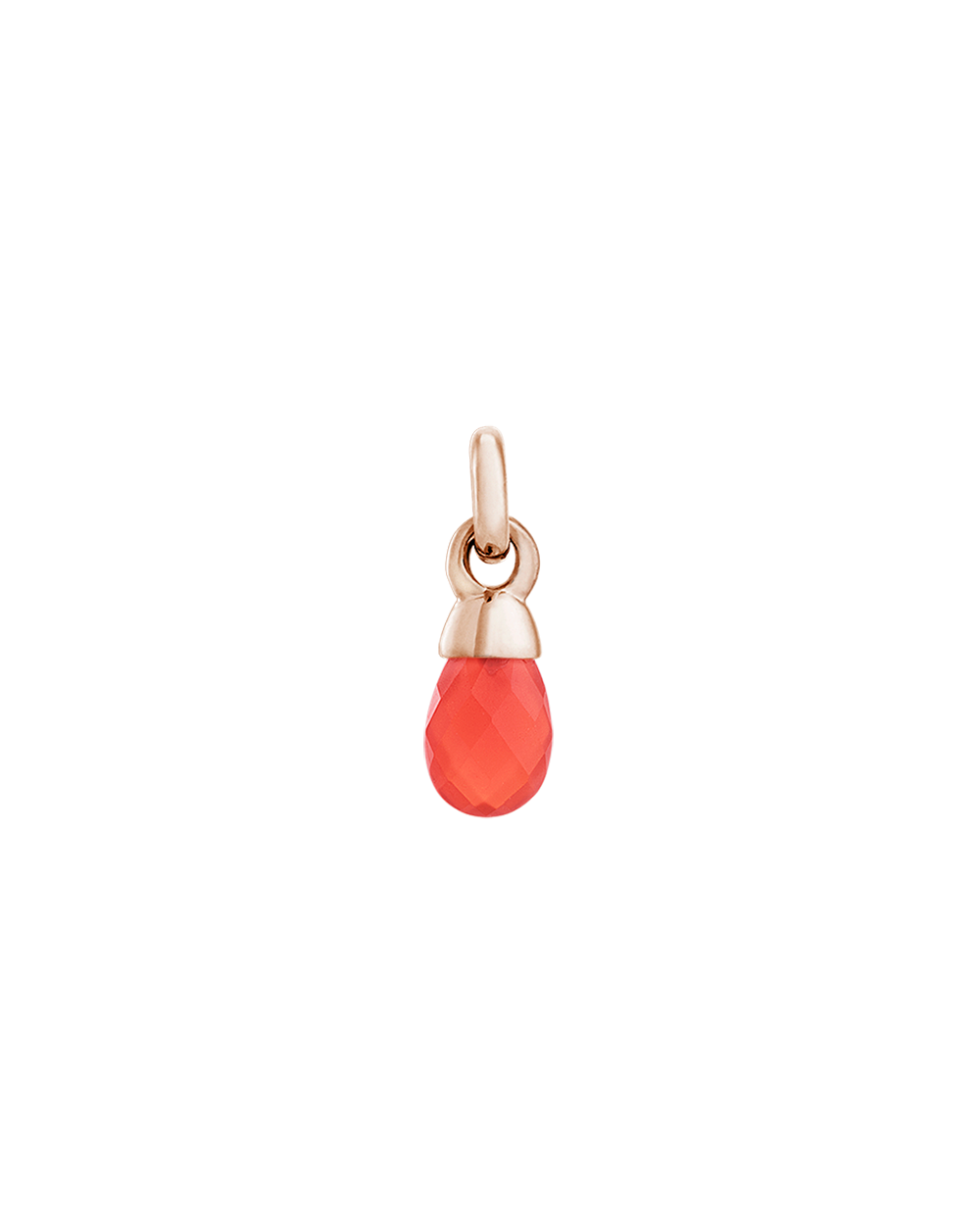 RED AGATE GEMSTONE (18K-ROSE GOLD-VERMEIL)