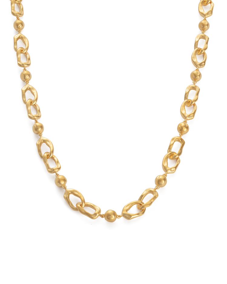 RENEWAL CHAIN NECKLACE (18K-GOLD-PLATED) - FRONT