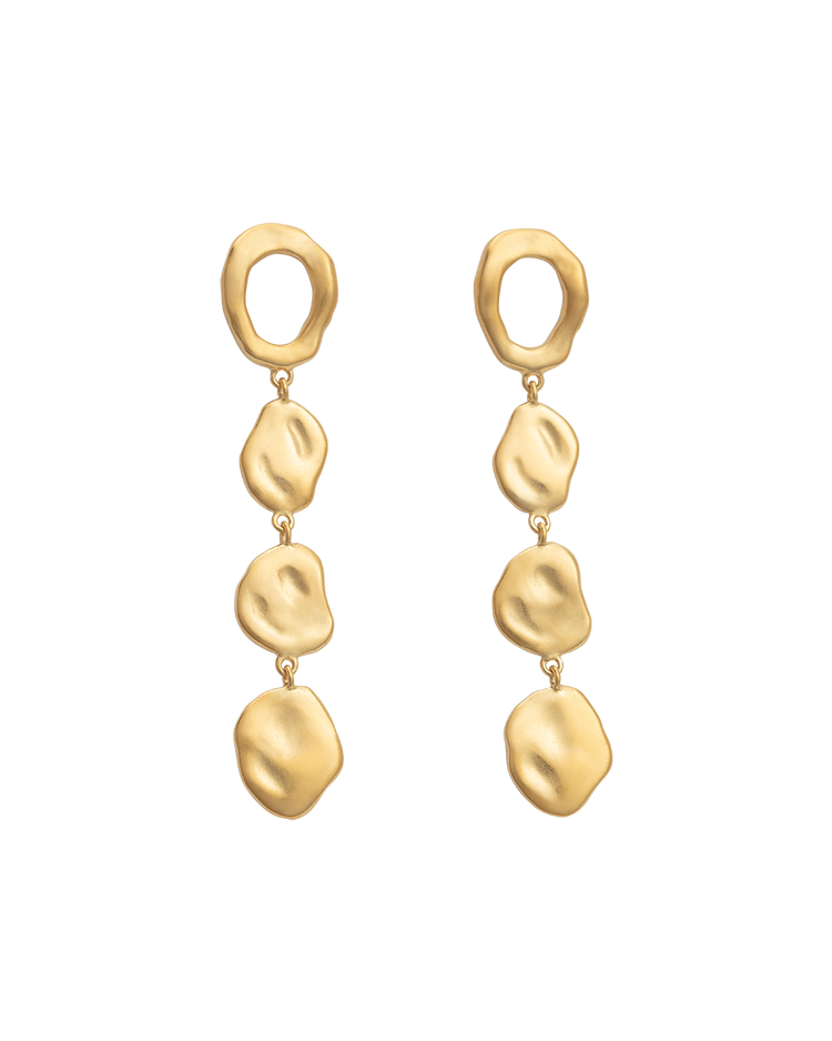 RENEWAL EARRINGS (18K-GOLD-PLATED) - FRONT