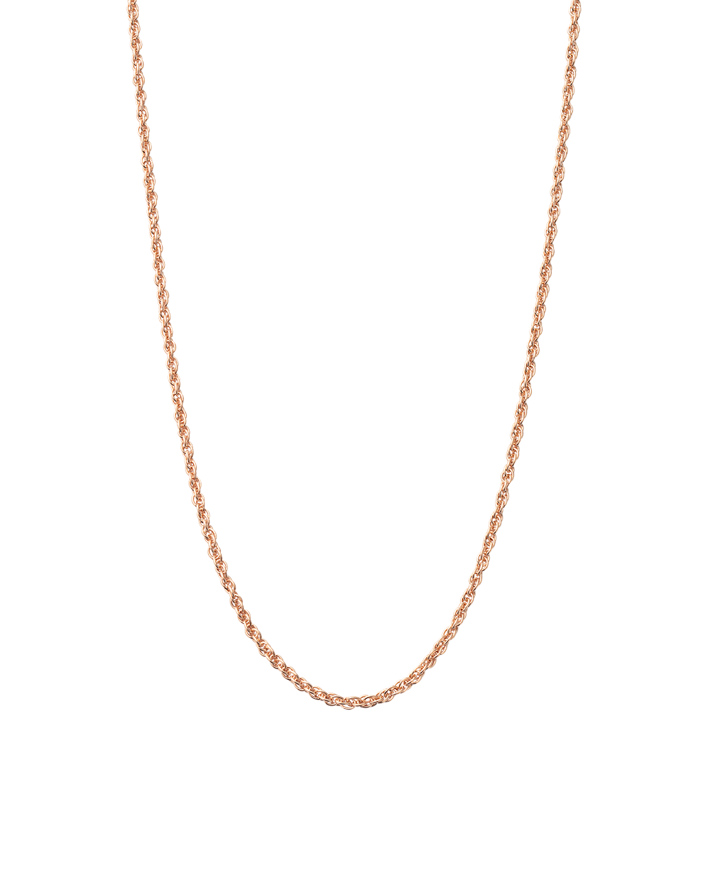 "ROPE CHOKER 14-16"" (18K-ROSE GOLD-VERMEIL)"
