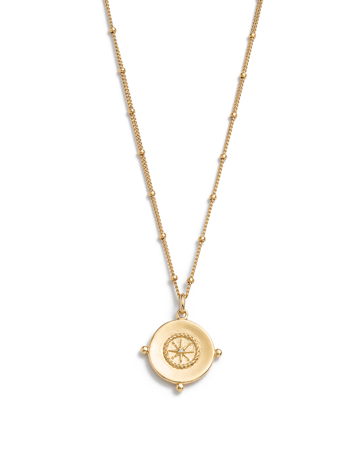 SAIL AWAY COIN NECKLACE (18K-GOLD-VERMEIL)