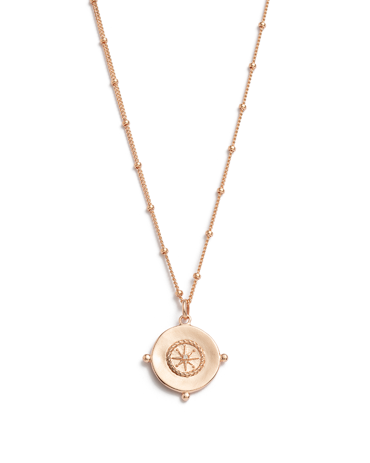 SAIL AWAY COIN NECKLACE (18K-ROSE GOLD-VERMEIL)