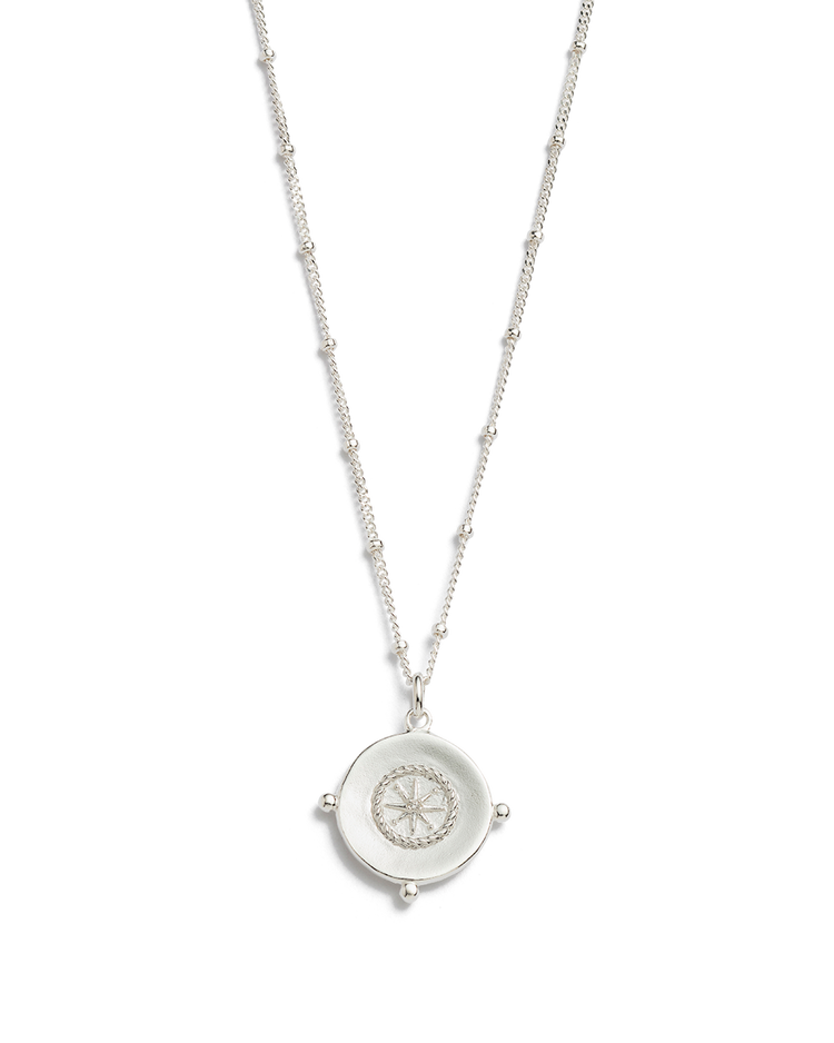 SAIL AWAY COIN NECKLACE (STERLING SILVER)