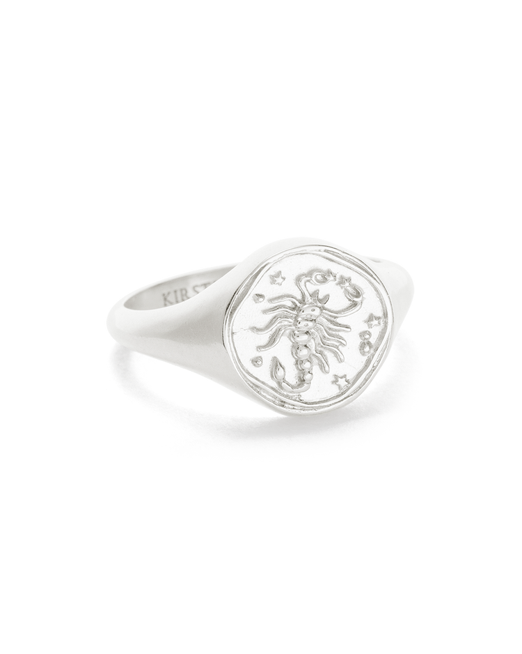 SCORPIO SIGNET RING (STERLING SILVER)