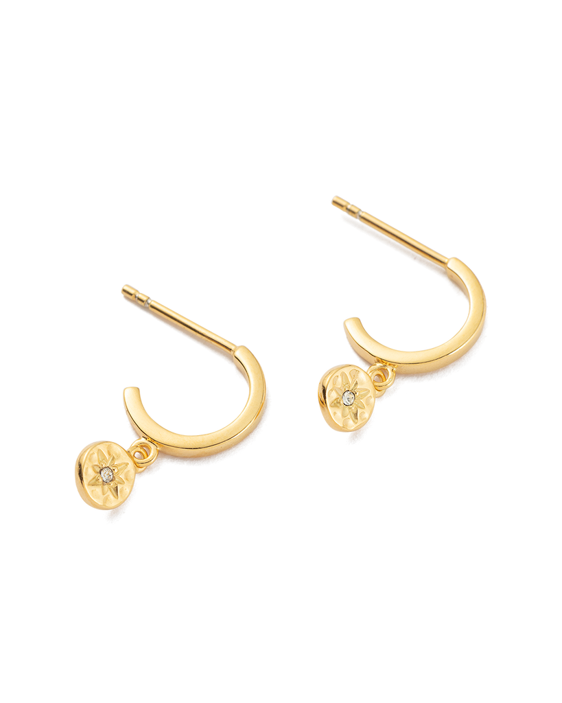 STAR COIN HOOPS (18K-GOLD-PLATED) - 02
