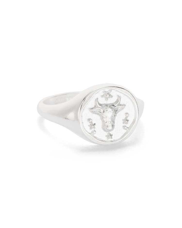 TAURUS SIGNET RING (STERLING SILVER)