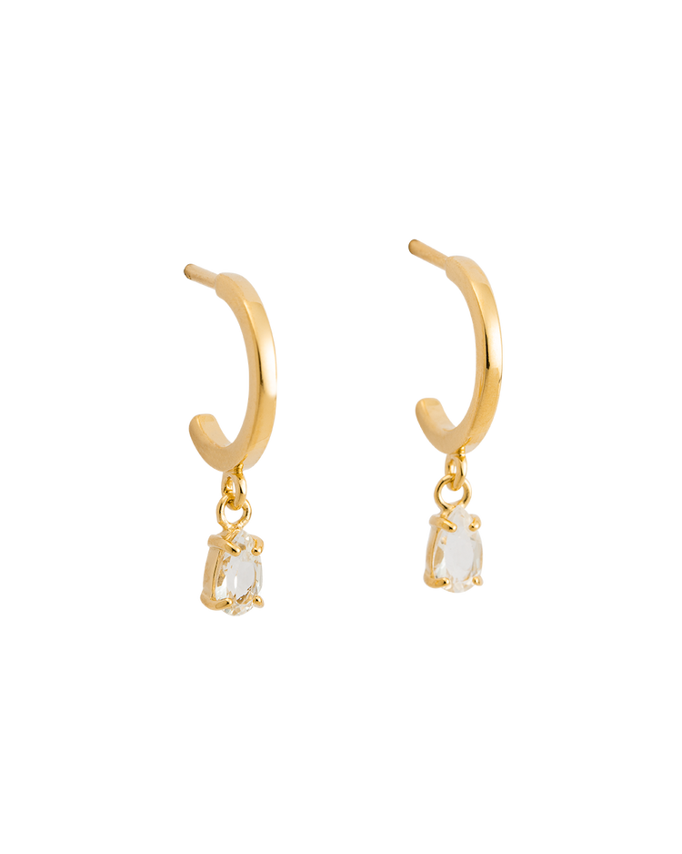 TEARDROP HOOPS (18K-GOLD-PLATED)