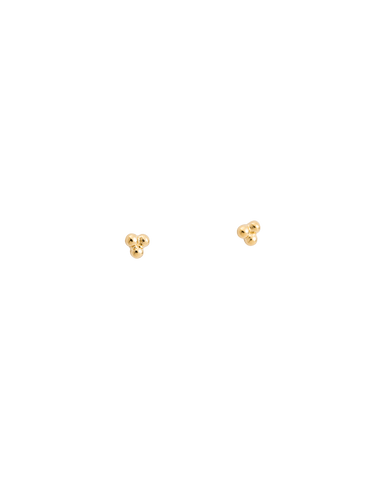 THREE DOT STUDS (18K-GOLD-PLATED) - 01