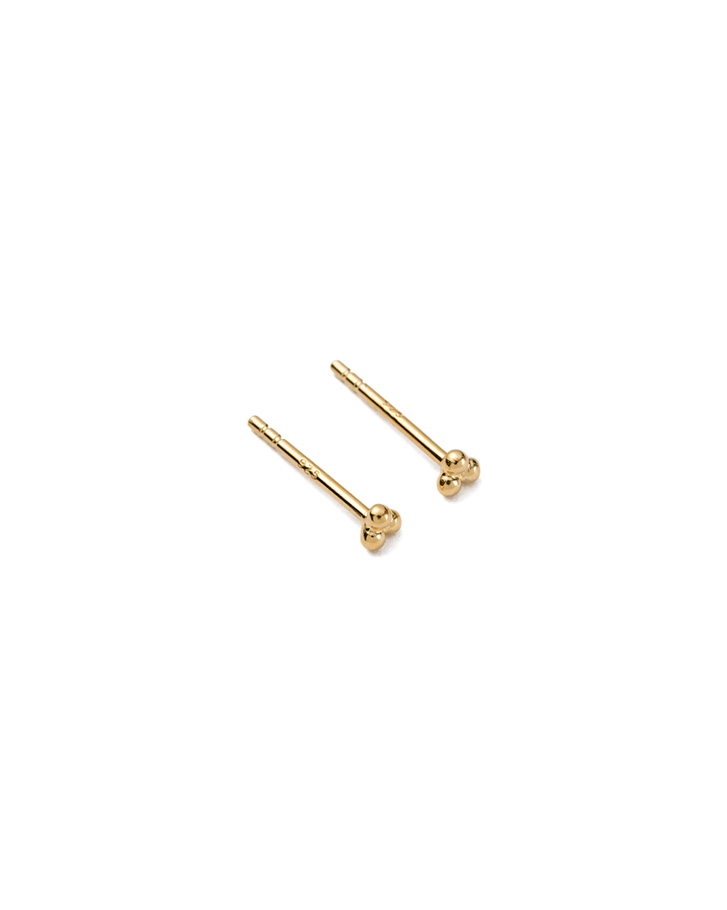 THREE DOT STUDS (18K-GOLD-PLATED)