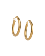 TIDAL HOOPS MEDIUM (18K-GOLD-PLATED)